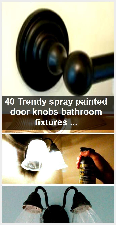 Photo of 40 Trendy spray-painted door handles for bathroom fittings, #Badroom # Door #DoorPain …