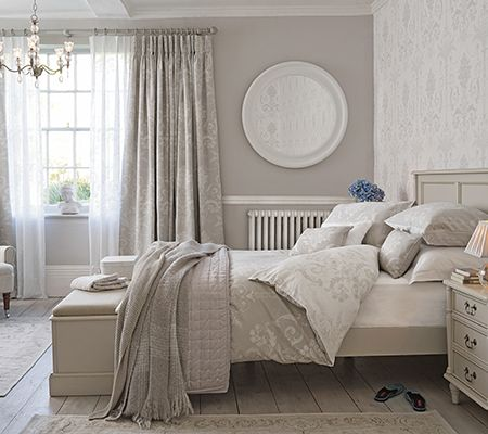 Josette dove grey bed linen laura ashley bedroom for Bedroom ideas laura ashley