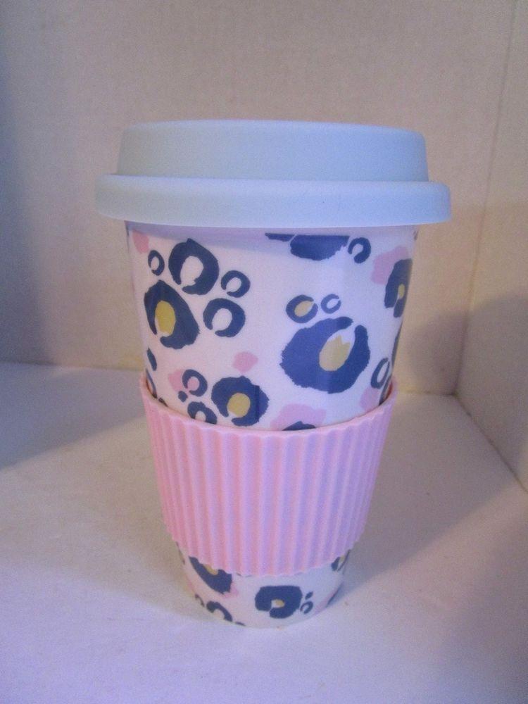 New 16 Oz Ceramic Travel Mug Lid Animal Print Latta Coffee Cup Iq Accessories Iqaccessories Coffee Cups Mugs Latta