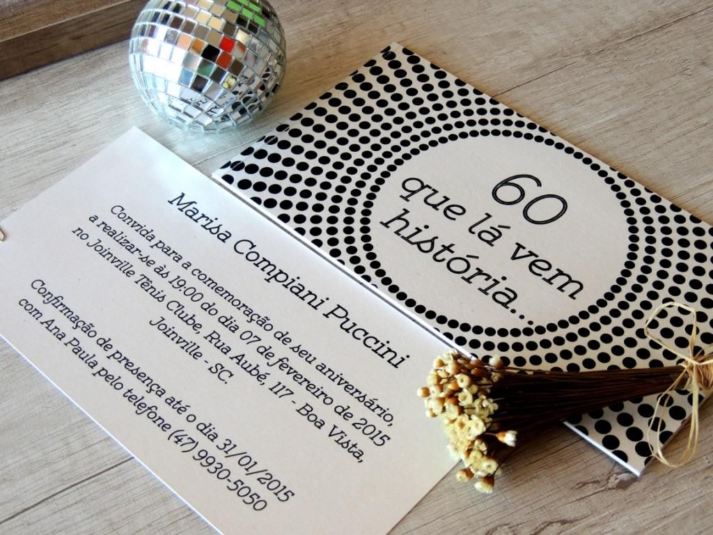 Convite Aniversário 60 Anos Convite Vovo 90th Birthday Birthday