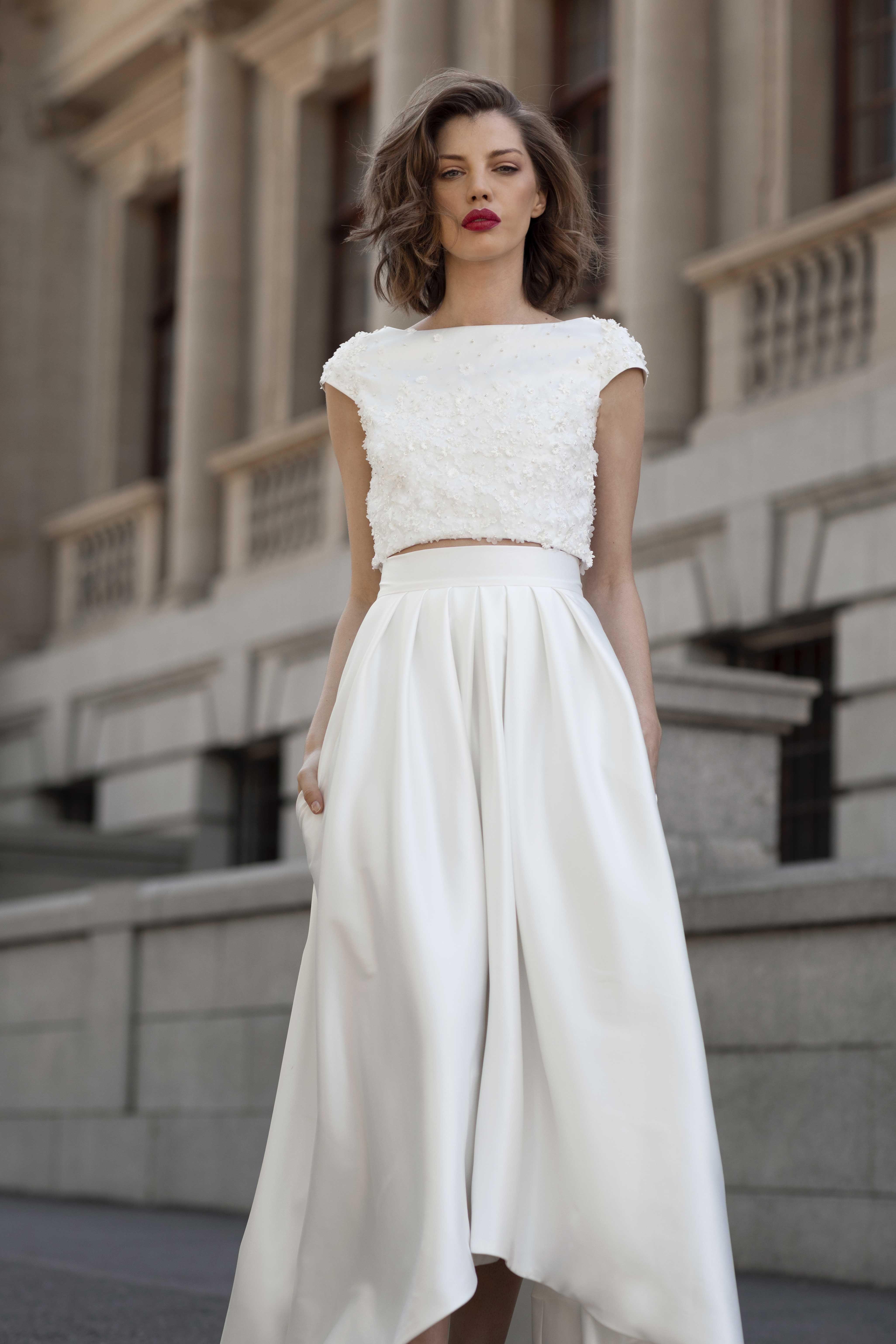 Zweiteiliges Hochzeitskleid - New Ideas, #Hochzeitskleid #Ideas