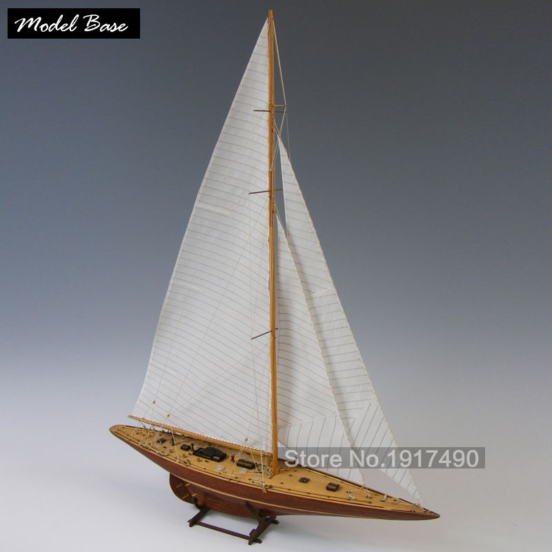 1:80 Scale DIY Wooden Sailing Boat 3D Assembly Model Kits Ship Toy Home Decor