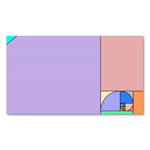 Golden ratio golden ratio business cards and business golden ratio double sided standard business cards pack of 100 colourmoves