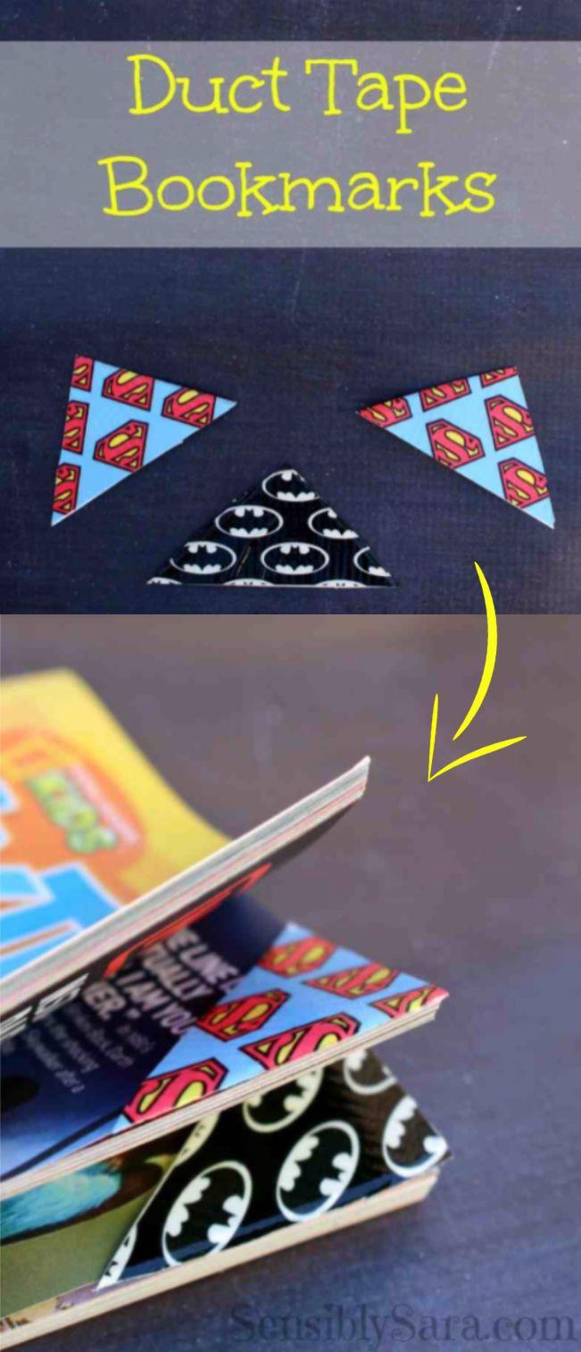 Duct Tape Bookmarks Easy To Make Craft Via Sensiblysara Com