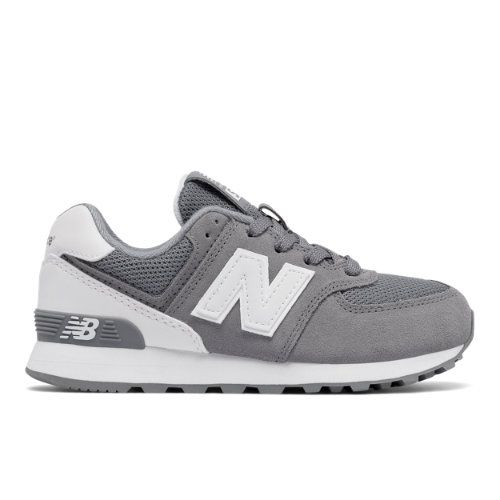 84bb655b6a65c 574 High Visibility Kids' Pre-School Lifestyle Shoes - Grey/White (KL574CKP)