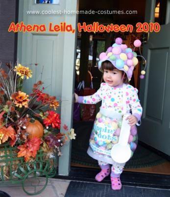 homemade toddler dippin dots ice cream halloween costume - Homemade Toddler Halloween Costume