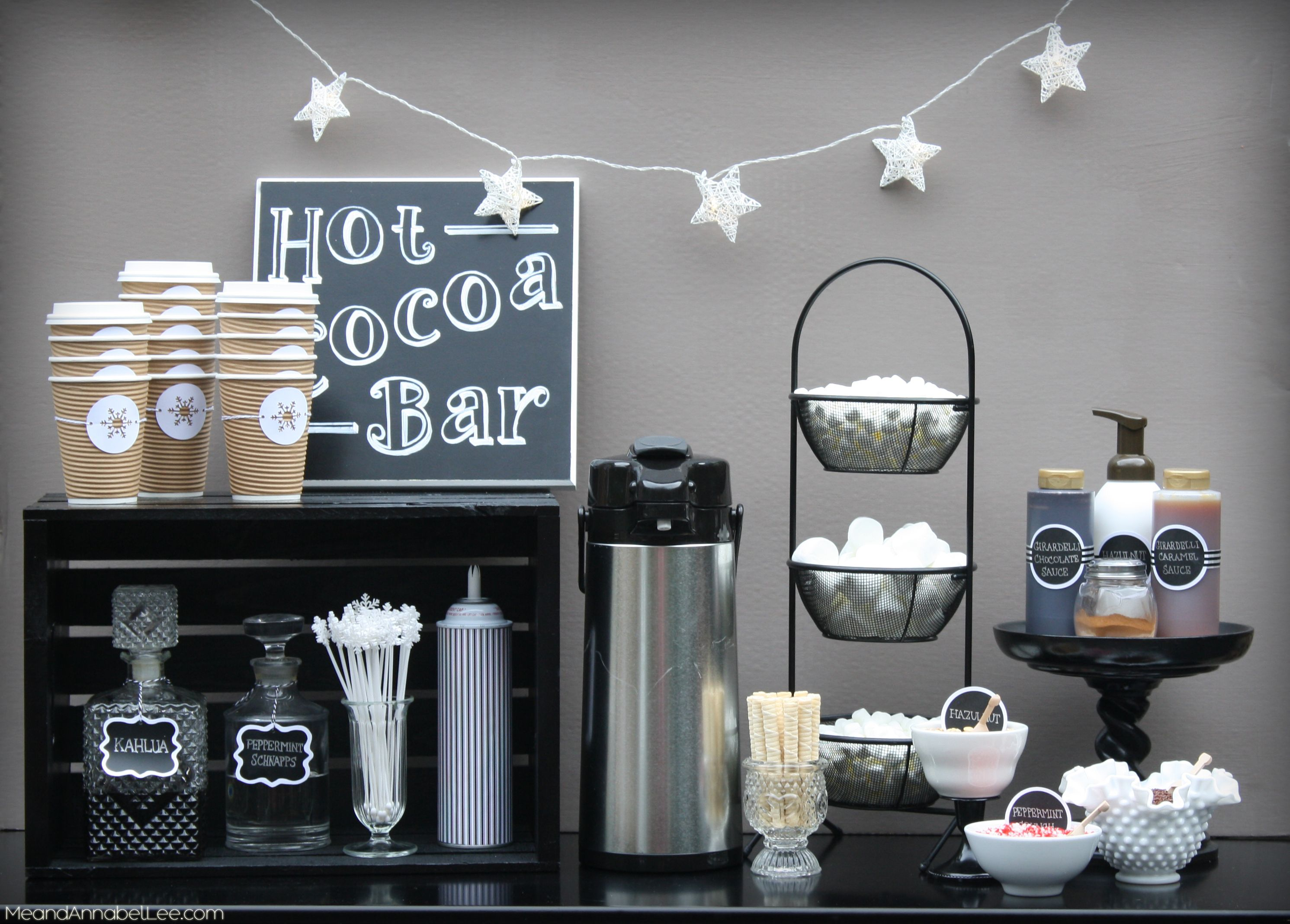 Hot Cocoa Bar, DIY Projects, Hot Chocolate Recipe #hotchocolatebar