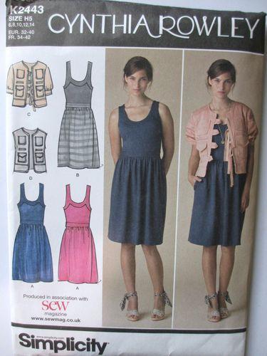 Bn Simplicity Cynthia Rowley Dress Jacket Pattern K2443 Multi