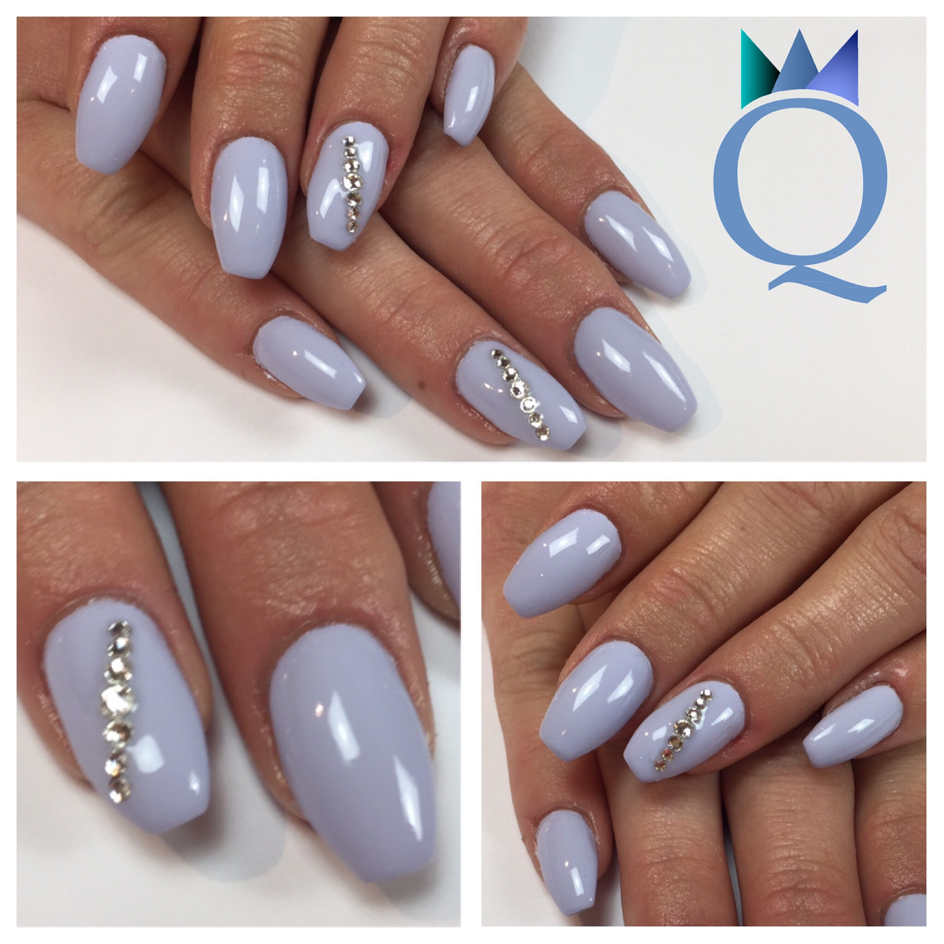 coffinnails ballerinashape gelnails nails lilac stones ballerina form geln gel n gel. Black Bedroom Furniture Sets. Home Design Ideas