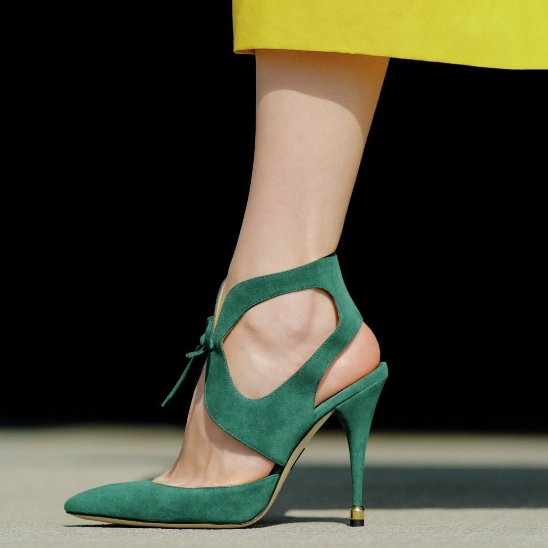 2c4bf1b49a1 The daring  PaulAndrew PRIMO in Amazon Green suede Bootie Boots