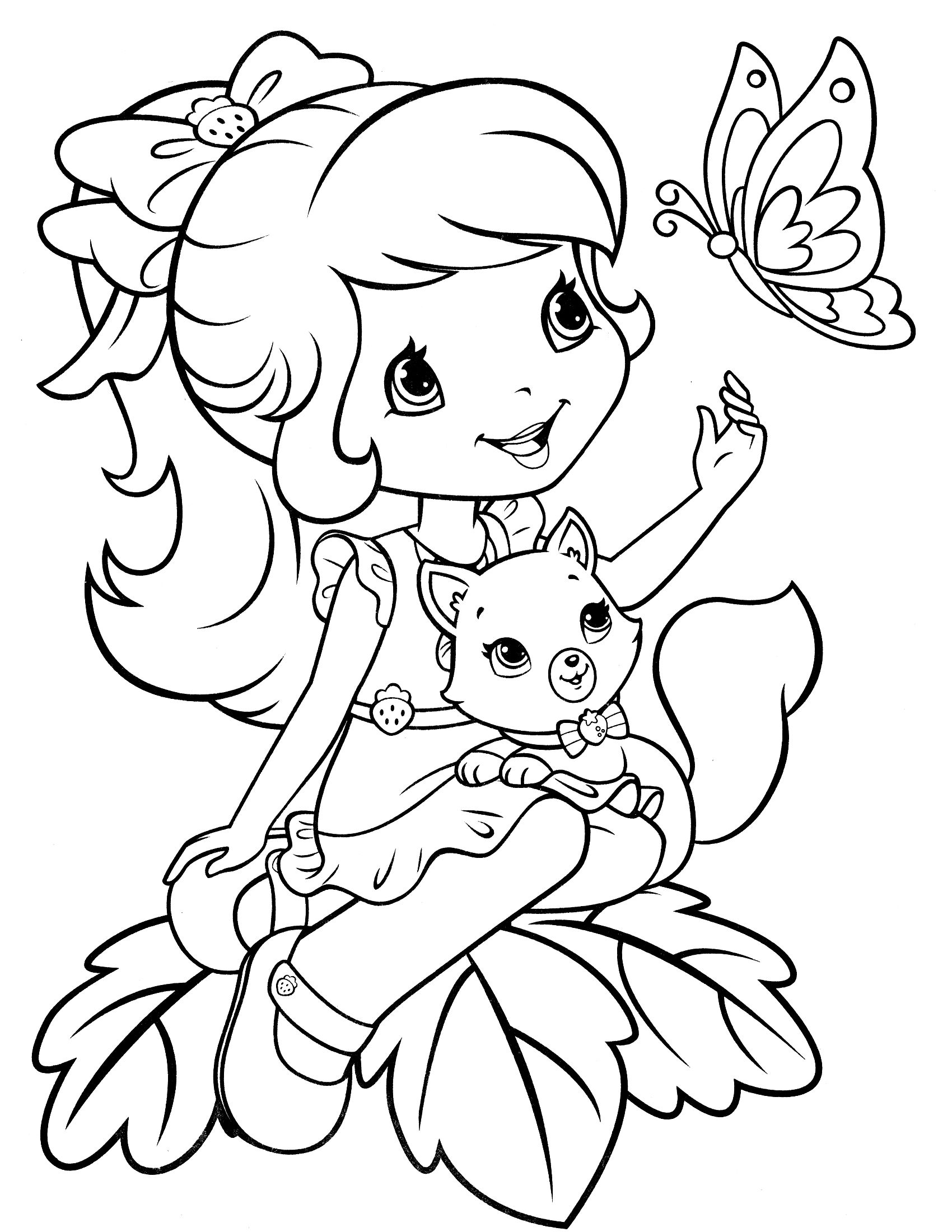 Strawberry Shortcake 52 Coloringcolor Com Butterfly Coloring Page Cartoon Coloring Pages Disney Coloring Pages