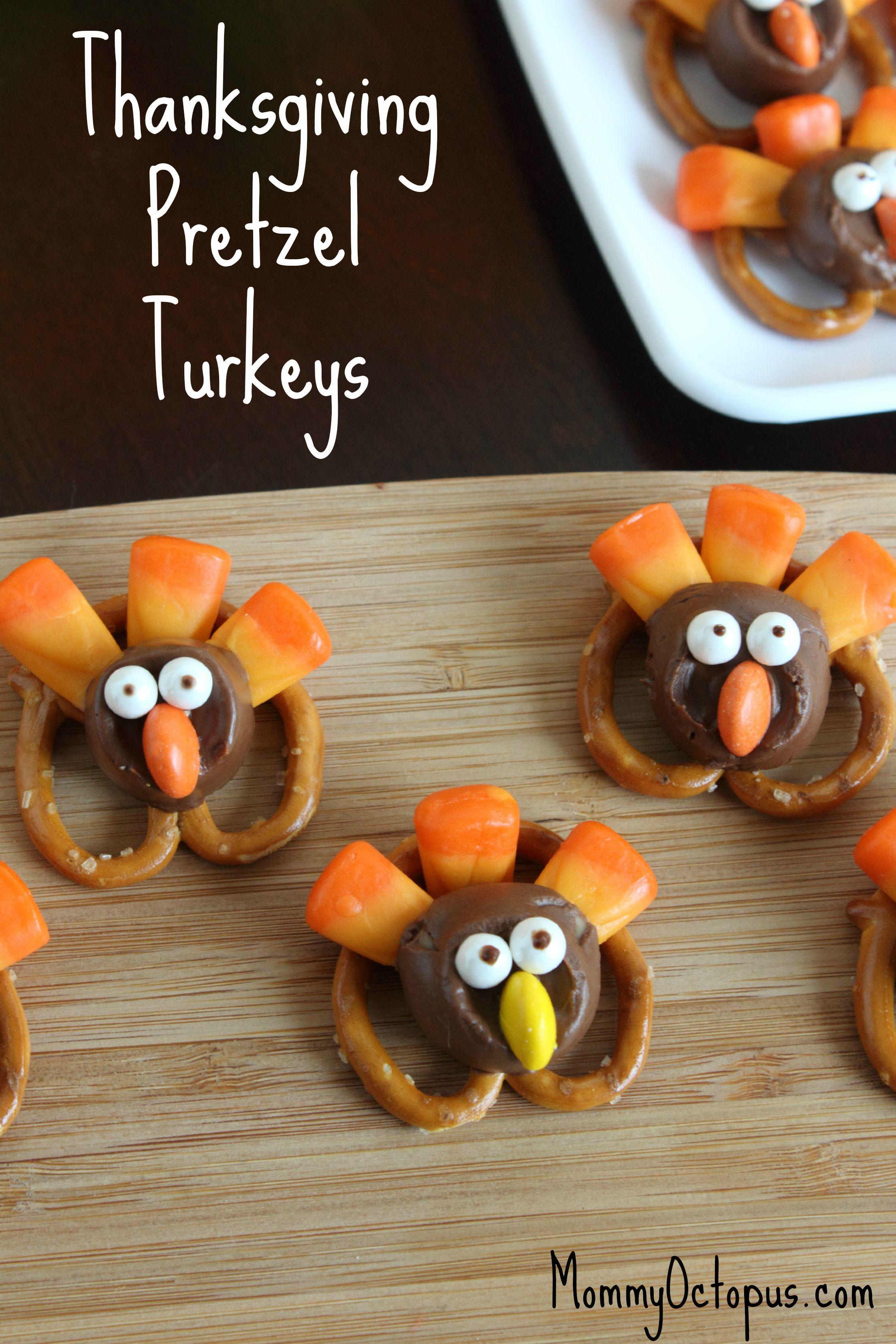 Thanksgiving Pretzel Turkeys Mommy Octopus Thanksgiving Treats Thanksgiving Snacks Thanksgiving Fun