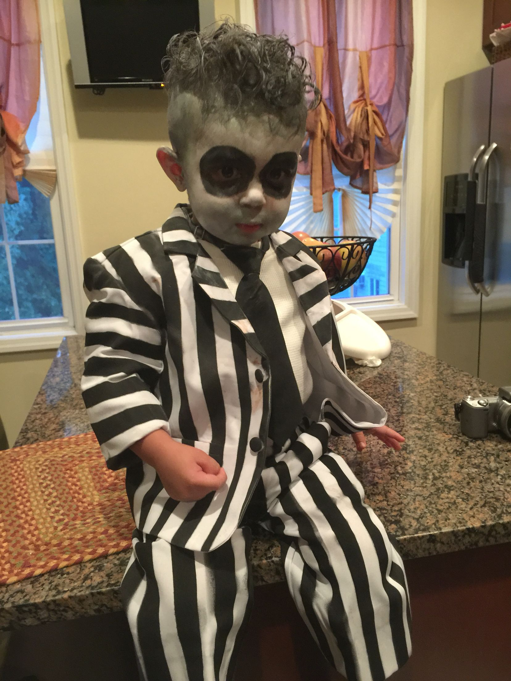 Toddler Beetlejuice Costume Toddler Beetlejuice Costume Beetlejuice Costume Family Halloween