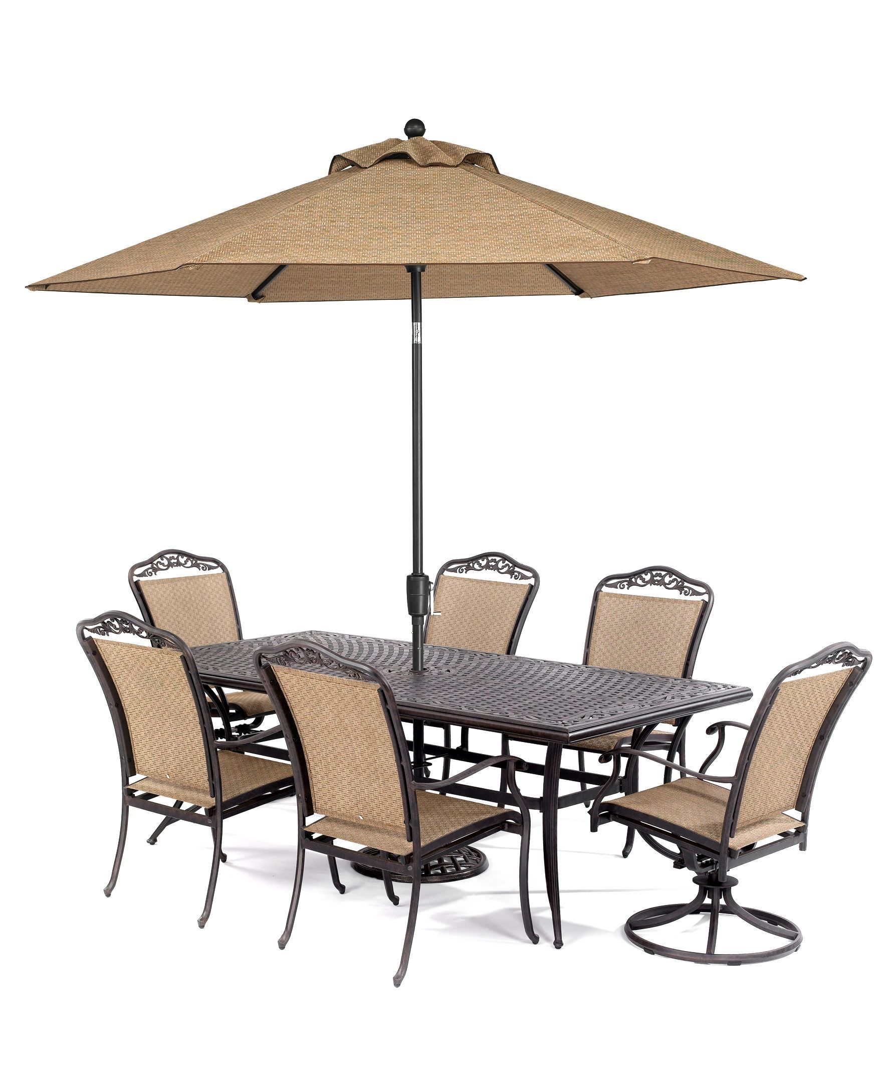 """beachmont outdoor 7 piece set: 84"""" x 42"""" dining table, 4 dining"""