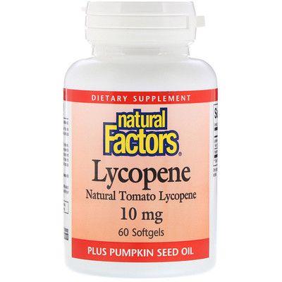 14+ Natural Factors, Lycopene