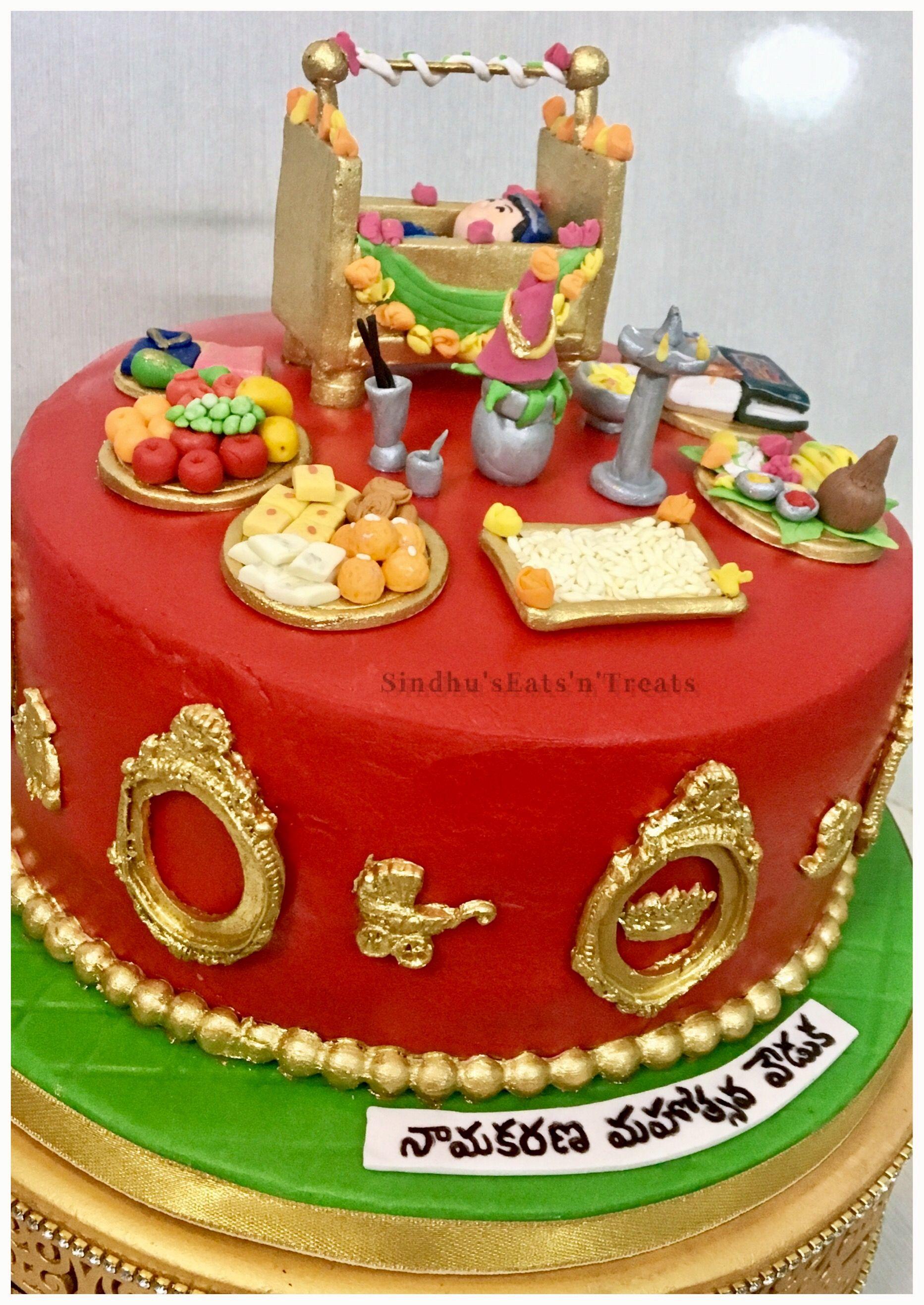 Cradle Ceremony Cake Namakaranam Cake Naming Ceremony Cake