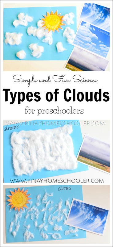 Type Of Clouds For Preschoolers Learn Different Cloud Formations In An Art Craft Weather Activities Preschool Preschool Weather Weather Crafts Preschool
