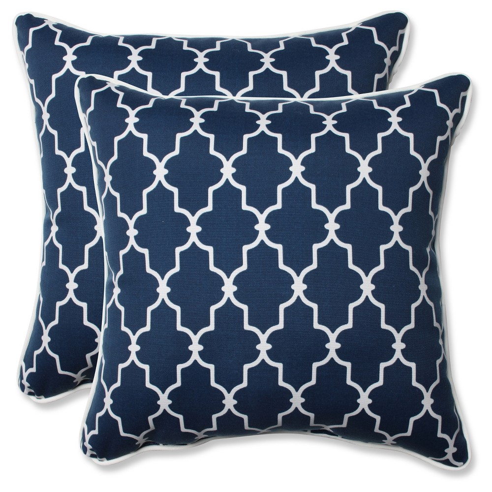 Pillow Perfect Outdoor Decorative Pillow Set Blue Products