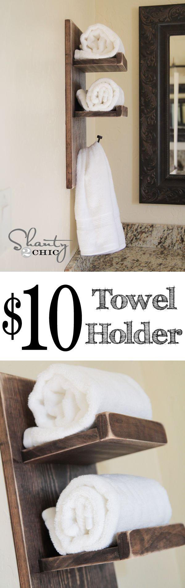 Super Cute DIY Towel Holder! | Diy towel holders, Towel holders and ...