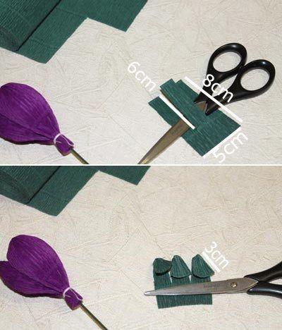 tulpen einfach basteln anleitung, tulpen einfach basteln - anleitung-dekoking-com-3 | basteln und, Design ideen