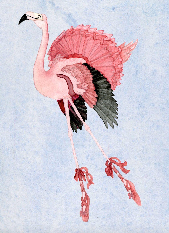 Flamingo ballerina stationery watercolor cartoon dancing flamingo flamingo ballerina stationery watercolor cartoon dancing flamingo note cards blank cute animal greeting cards kristyandbryce Gallery