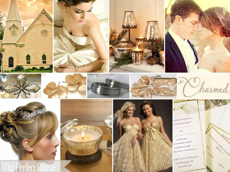 Wedding Color Themes I Like The Gold And Ivory Dont Know If It Would Go With