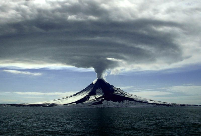 Eruption of Mt. Augustine--Alaska, March 27, 2006.