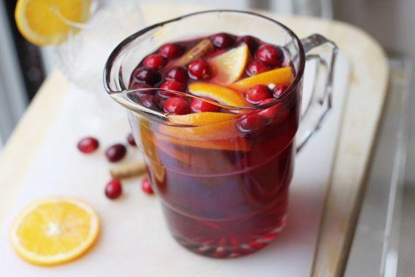 Hot Cranberry Sangria