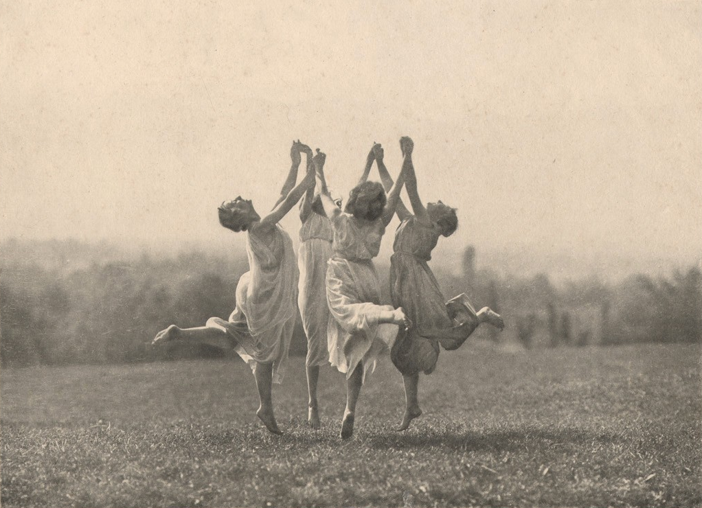 Frederick Boissonnas.Four Dancers in Flight, 1900s
