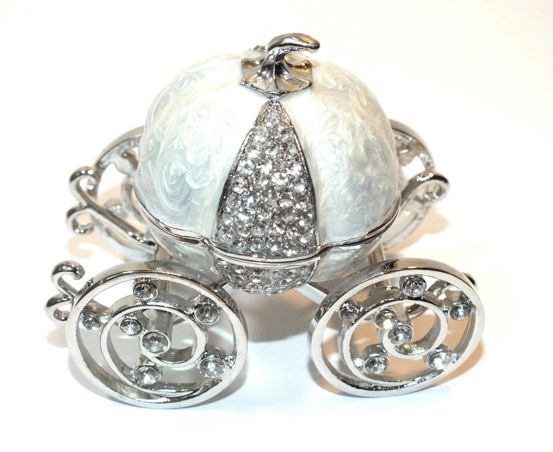 Pumpkin Cinderella Carriage Ring Box Trinket Jewelry Box
