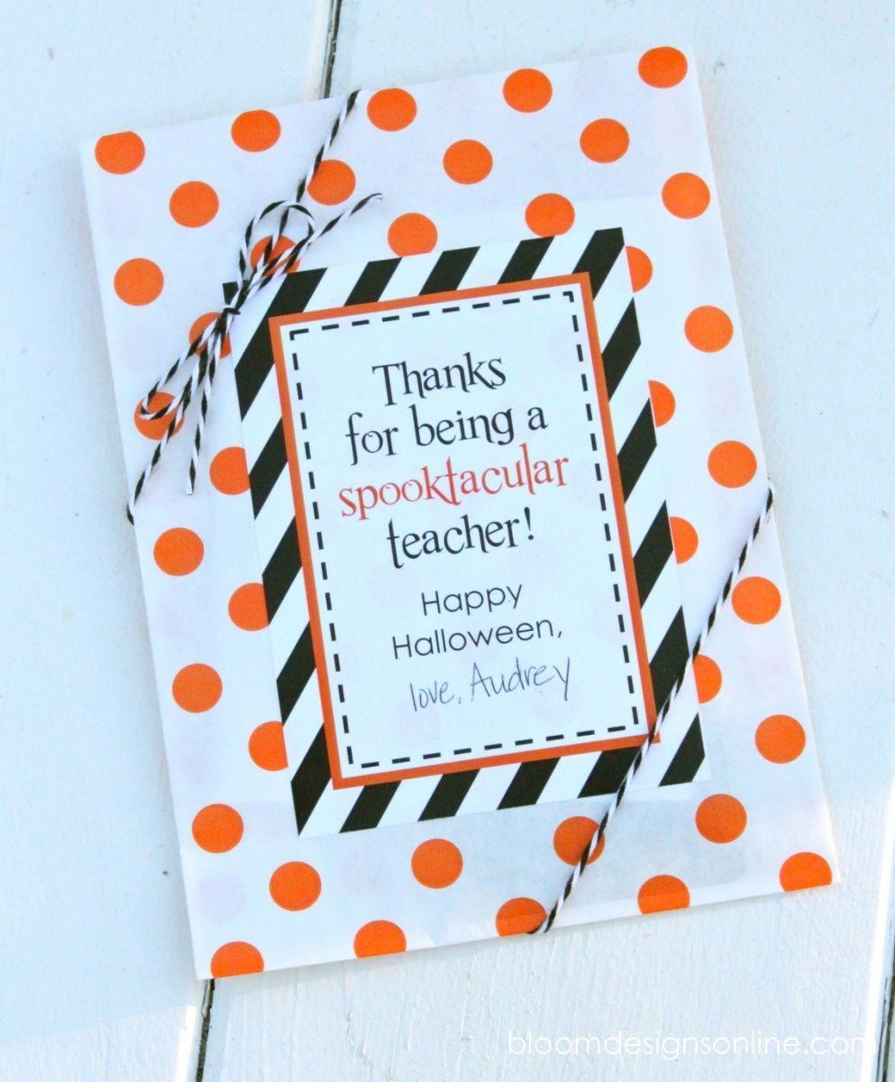 Halloween Gift Ideas For Teachers.Spooktacular Teacher Tags Halloween Halloween Teacher Gifts
