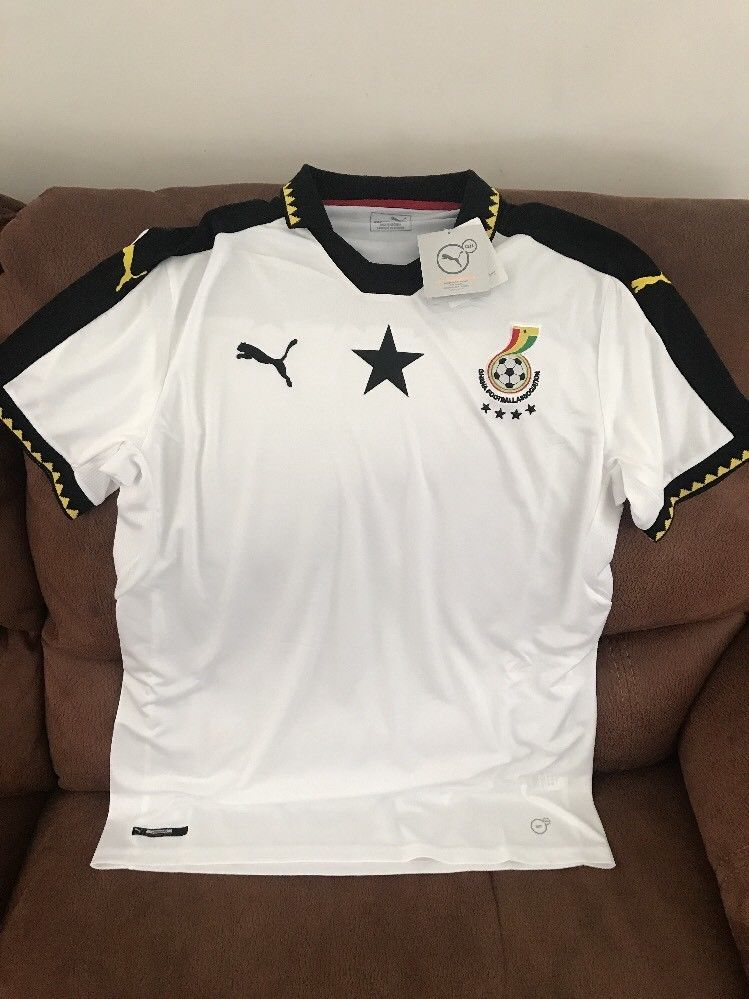 50308a7936bfa Puma Ghana Football Association Soccer Jersey NWT Size L Mens | eBay ...