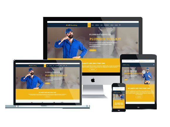 ET Plumbing – Plumbing Website   Engine, Template and Website themes