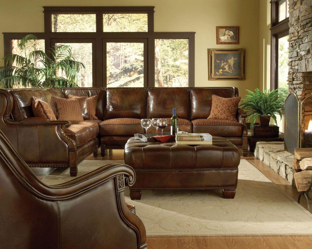 Brown Formal Leather Living Room Sets Raysa House   Living ...