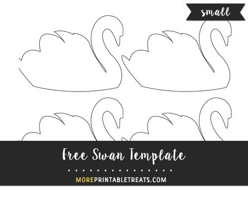 Free Swan Template Small Size Templates Swan Swan Baby Shower