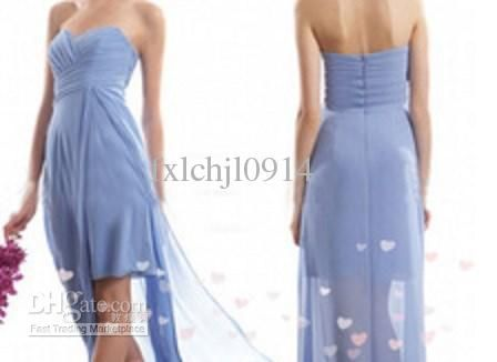 Wholesale Bridesmaid Dress -  Strapless Sexy Sweetheart High Low Bridesmaid Dresses, $62.0 | DHgate