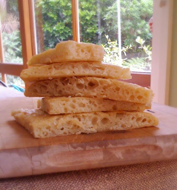 Focaccia made with the water from mozzarella and no yeast ...
