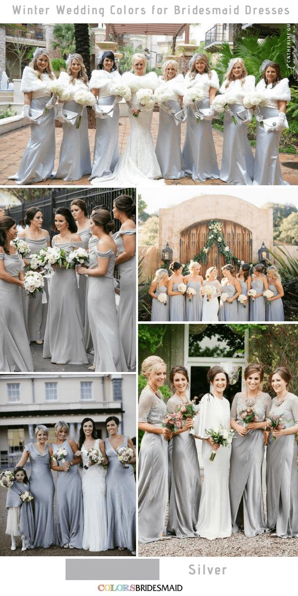 1abef8d3a32ab Top 10 winter wedding colors for bridesmaid dresses -No.10 Silver #colsbm # bridesmaids #weddings #weddingideas #winterweddings b437