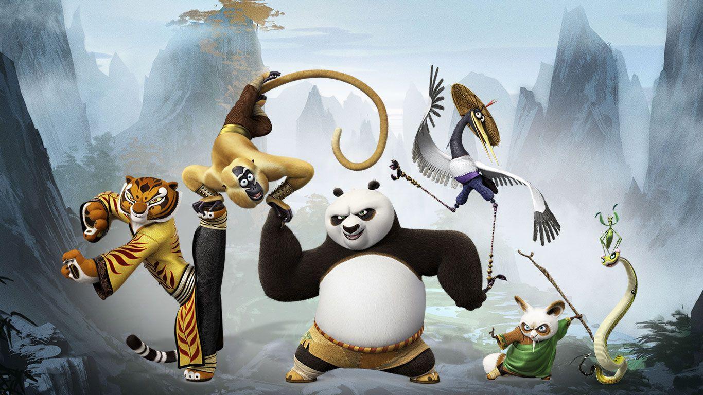 Kung Fu Panda 3 2016 Characters Wallpaper Hd Jpg 1366 768