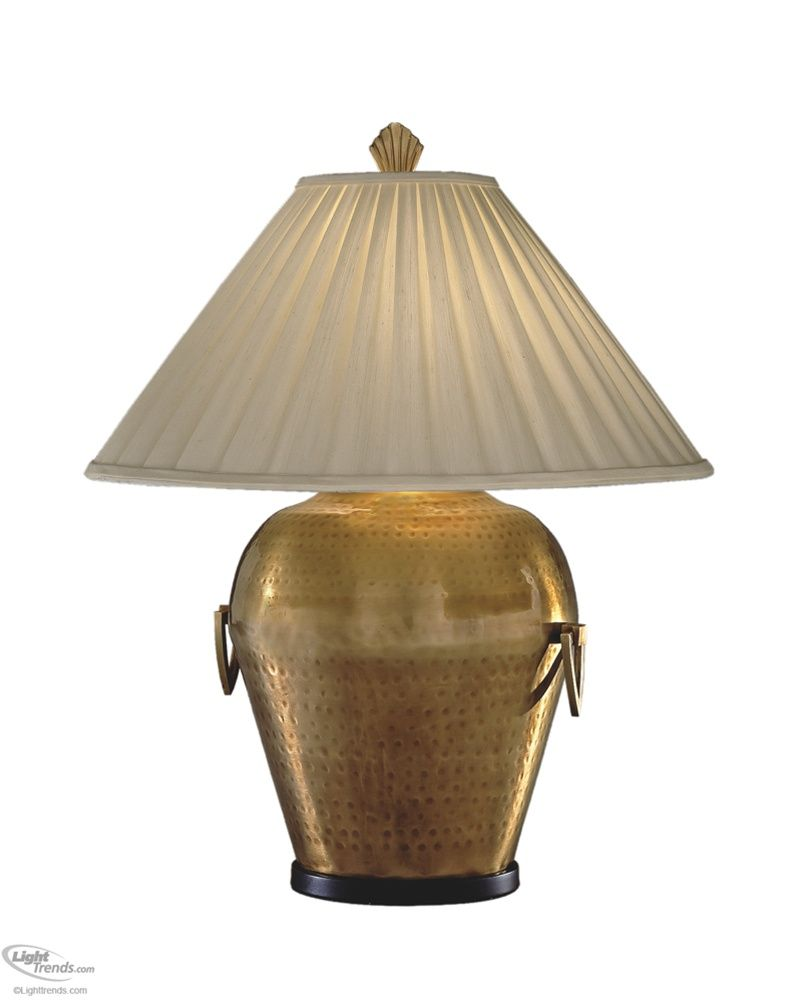 Antique Hammered Brass Urn Lamp by Remington Lamp 2395 in 2019