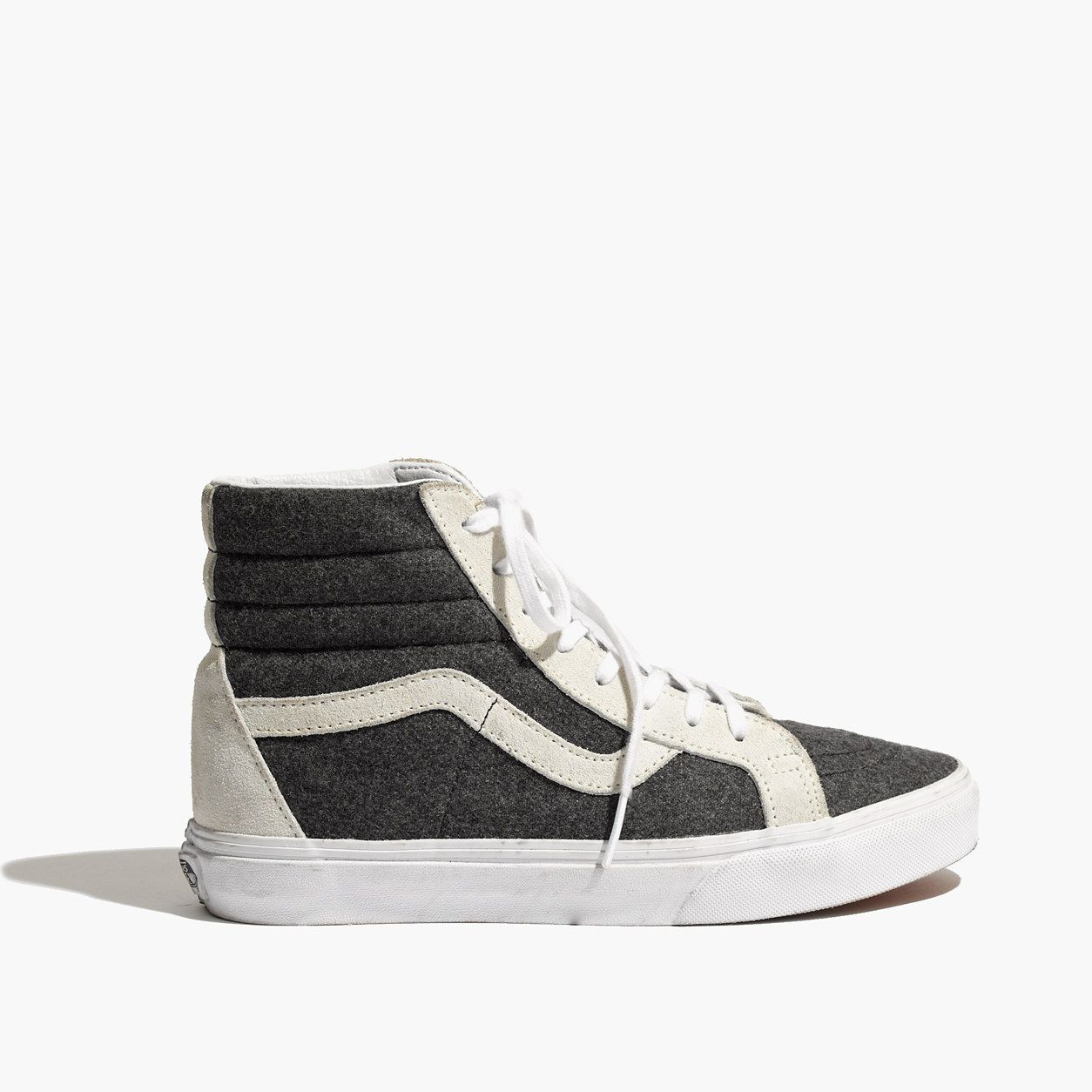 3df7d9de40 Vans   Madewell Classic Sk8-Hi High-Tops In Wool