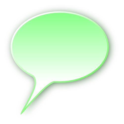3d speech bubble green
