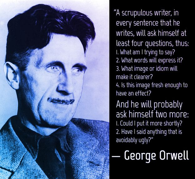 24 Quote That Will Inspire You To Write More Writing Motivation Advice George Orwell Essay On