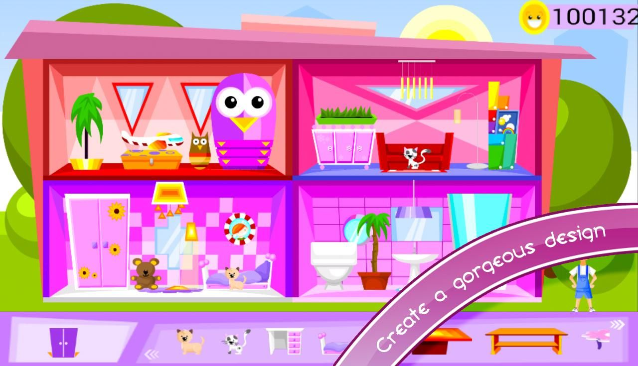 Awesome Doll Room Decoration Games Part - 5: VERY BEAUTIFUL HOUSE GAMES