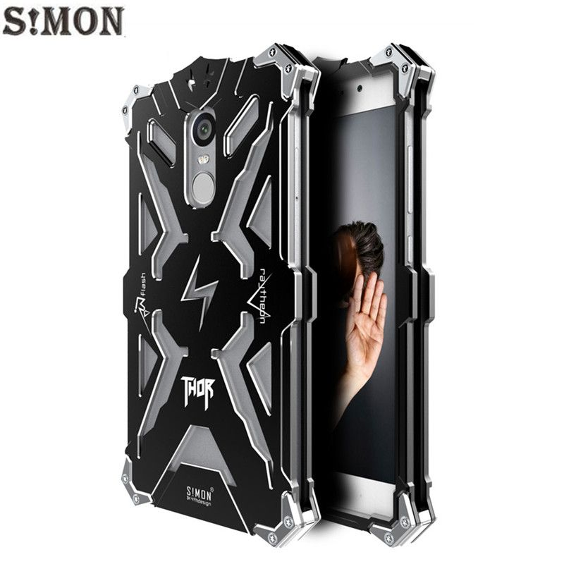 7cf5687a2dc70 Xiaomi Redmi Note 4X Case 5.5 inch Simon THOR IRONMAN Metal Armor Case for Xiaomi  Redmi Note 4 CNC Anodized Aluminum Cover