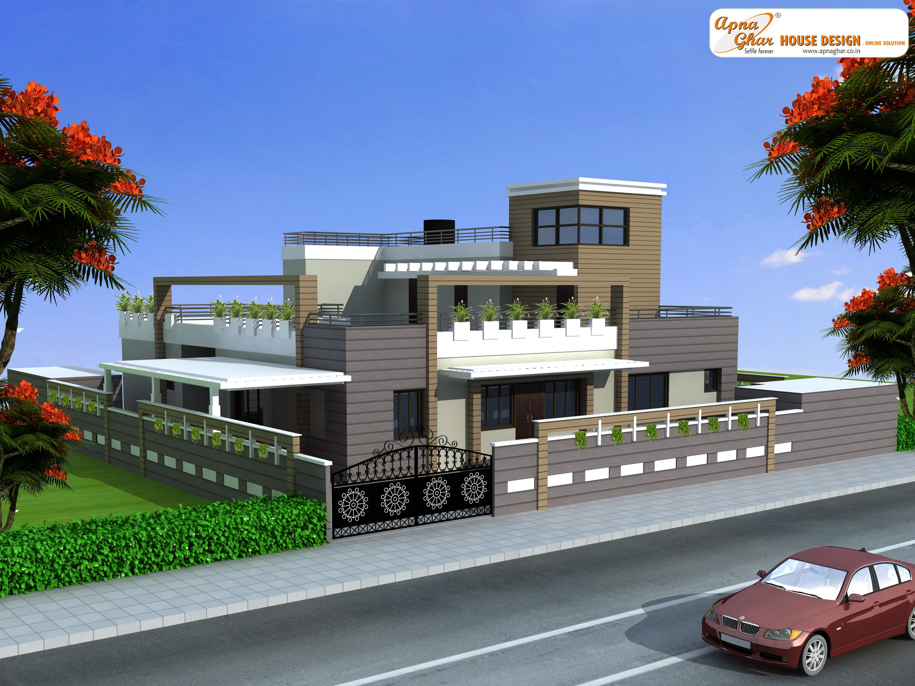 6 Bedroom Duplex 2 Floor House Designclick On This Link Http Magnificent 6 Bedroom House Designs Design Decoration