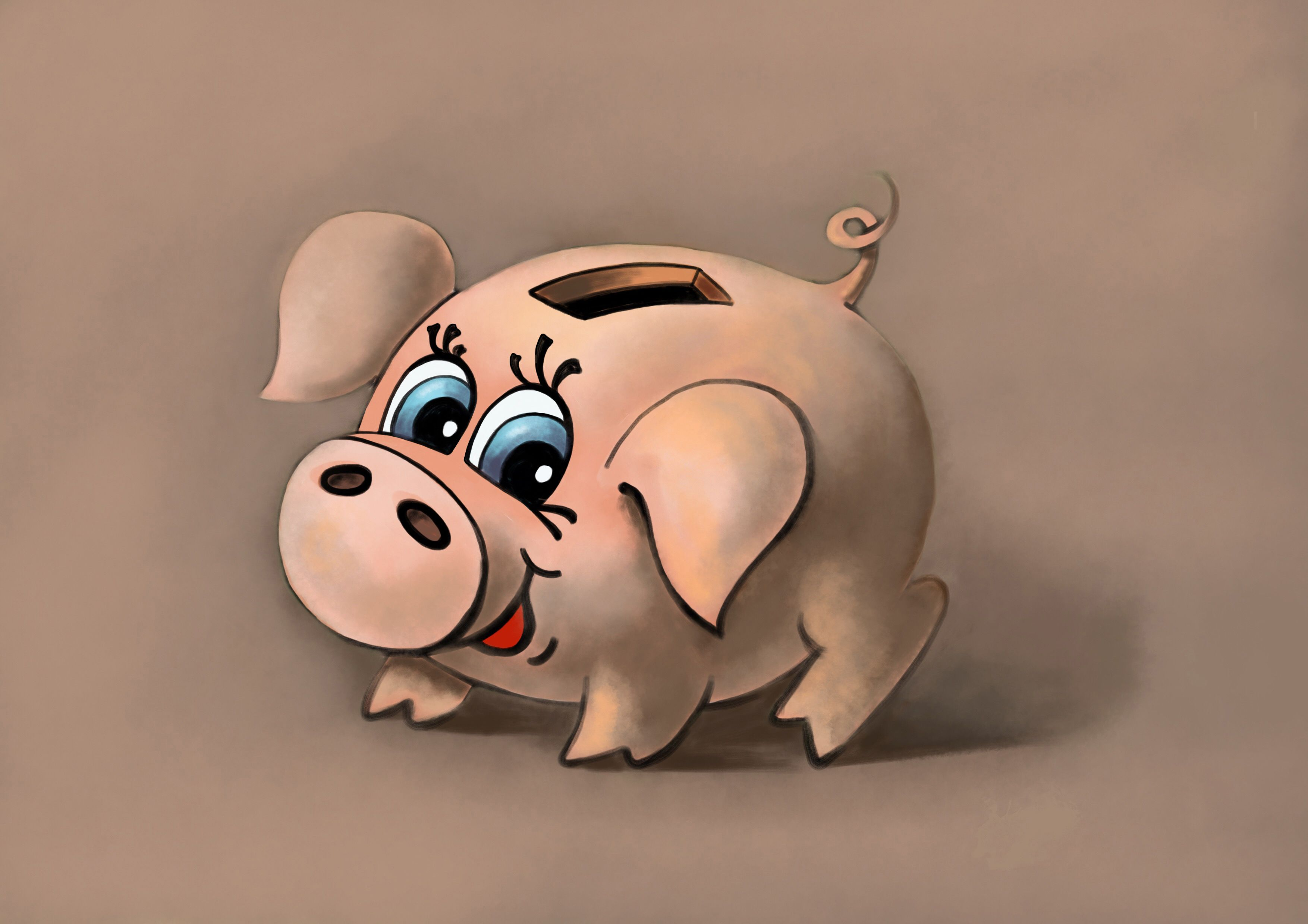Funny Piglet Printable Pig Piggy Cartoon Sympathetic