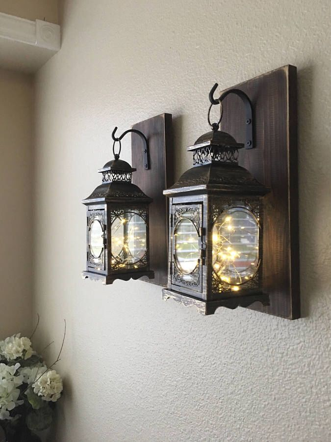 Perfect For My Barn Home Rustic Wood Lanterns Yes I Do Line I A Barn A Pole Barn That Is A Work In Prog With Images Farmhouse Wall Decor