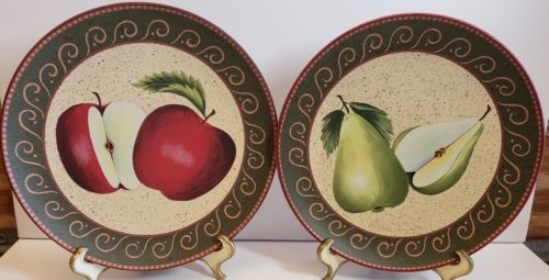 2 Homco Home Interiors Decorative Fruit Plates Pears And Les 2001
