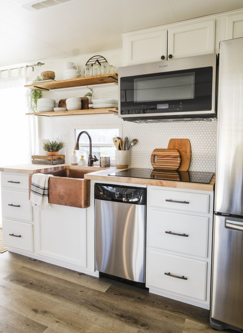 Rv Kitchen Remodel New Cabinets Sink Before And After Rv Kitchen Remodel Kitchen Layout Small Kitchen Decor